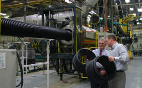 Ohio congressman tours ADS pipe manufacturing plant
