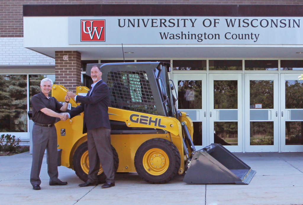 Skid loader donation helps wisconsin community onsite installer skid loader donation helps wisconsin community sciox Image collections
