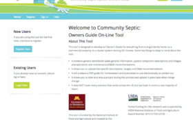 Free Software Creates Custom Guide for Septic Care