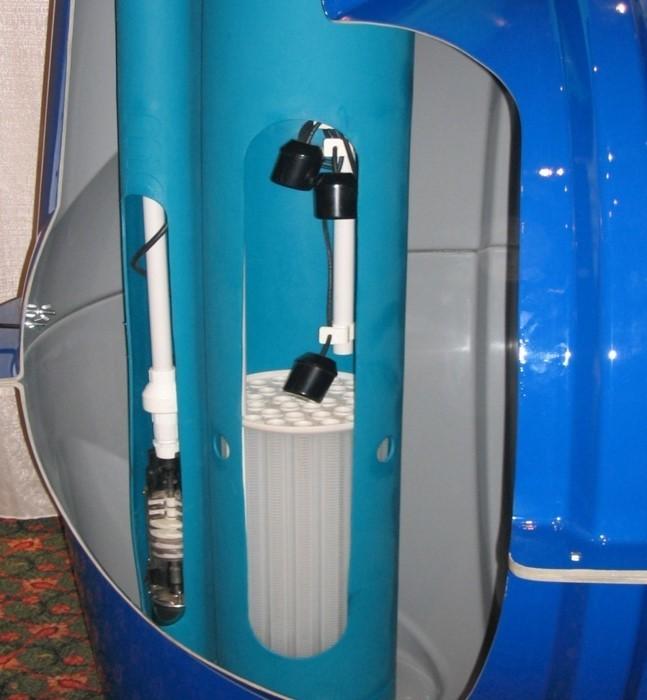 Screened turbine pump